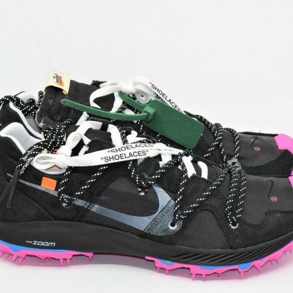 Off White x Nike Zoom Terra Kiger 5 Black CD8179 001  CD8179 001